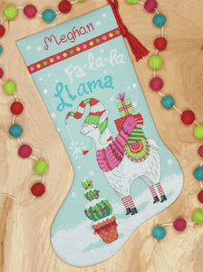 Llama Christmas Stocking Cross Stitch Kit by Dimensions