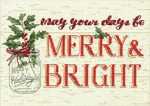 Merry and Bright Cross Stitch Kit by Dimensions