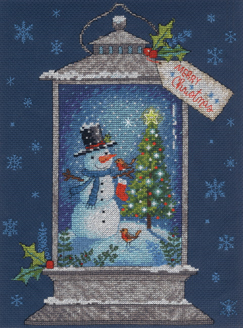 Snowman Lantern Cross Stitch Kit by Dimensions