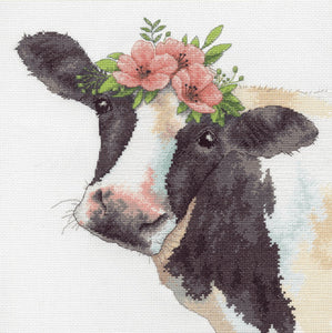 Sweet Cow Cross Stitch Kit by Dimensions
