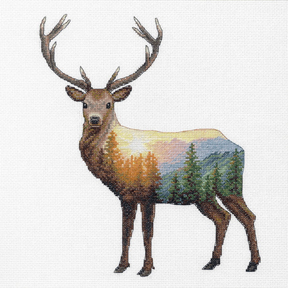 Deer Scene Cross Stitch Kit by Dimensions