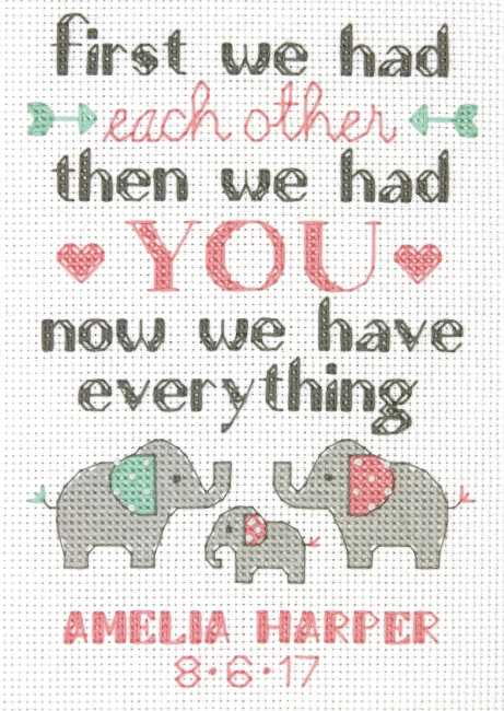 Family Birth Record Cross Stitch Kit by Dimensions