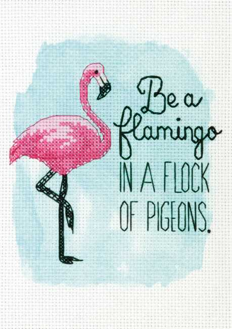 Be a Flamingo Cross Stitch Kit by Dimensions