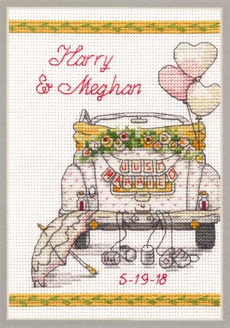 Wedding Day Cross Stitch Kit by Dimensions