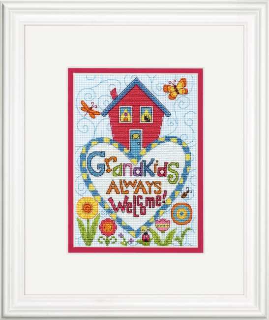 Grandkids Cross Stitch Kit by Dimensions