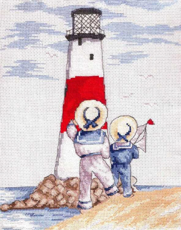 Lighthouse All Our Yesterdays Cross Stitch Kit by Faye Whittaker