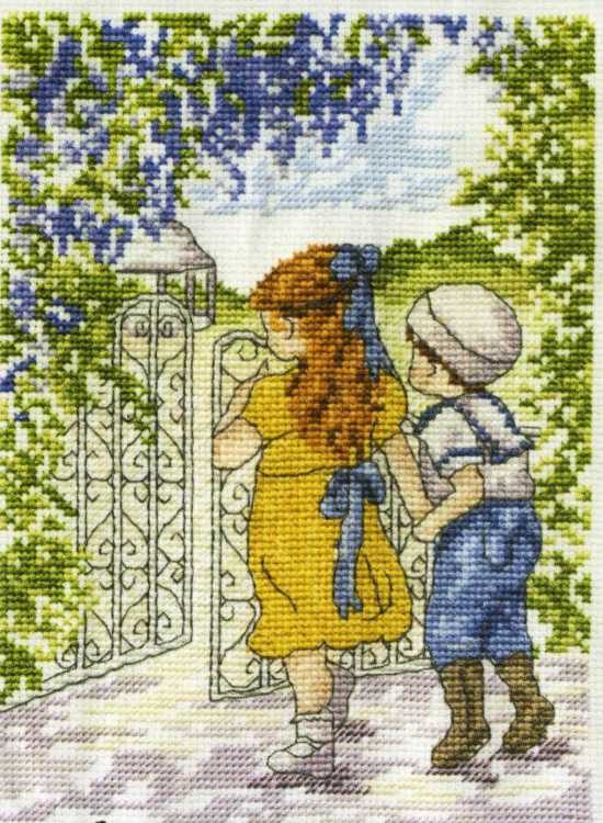 In The Secret Garden All Our Yesterdays Cross Stitch Kit by Faye Whittaker