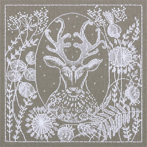Lace Deer Cross Stitch Kit by PANNA