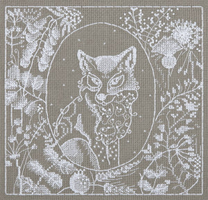 Lace Fox Cross Stitch Kit by PANNA