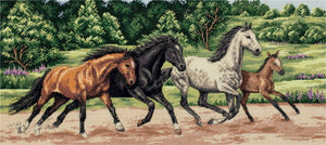 Wild Horses Cross Stitch Kit by PANNA