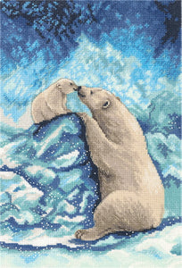 Polar Bears Cross Stitch Kit by PANNA