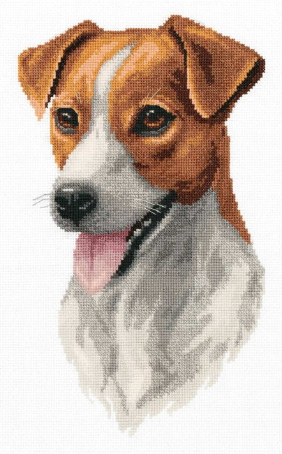 Jack Russell Cross Stitch Kit by PANNA