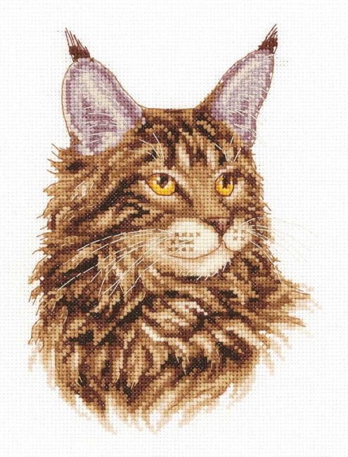 Maine Coon Cross Stitch Kit by PANNA