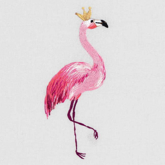 Flamingo Embroidery Kit by PANNA