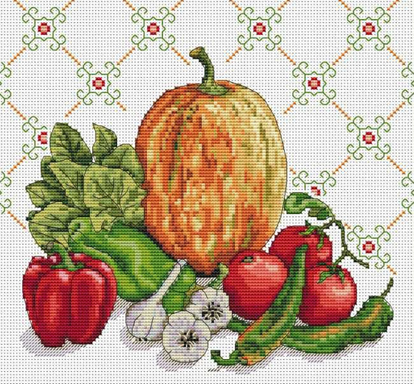 Still Life in Orange Cross Stitch Kit by Merejka