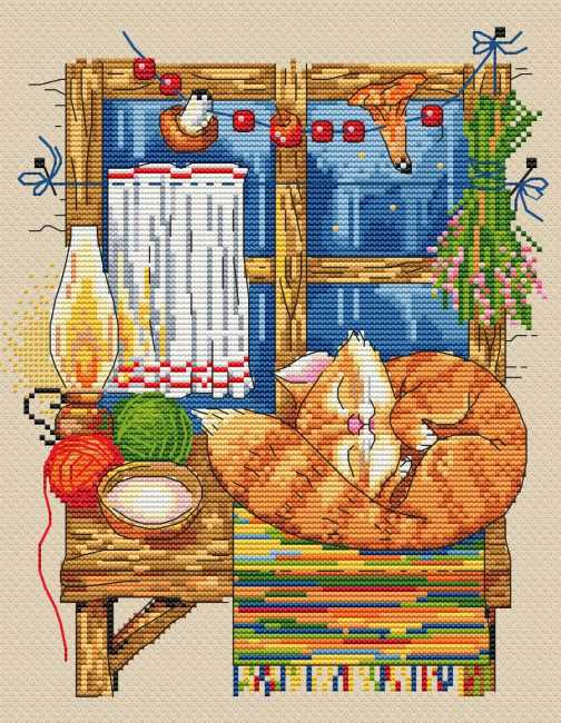 The Cat Cross Stitch Kit by Merejka