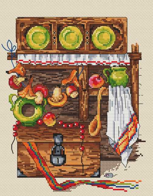 The Chest Cross Stitch Kit by Merejka