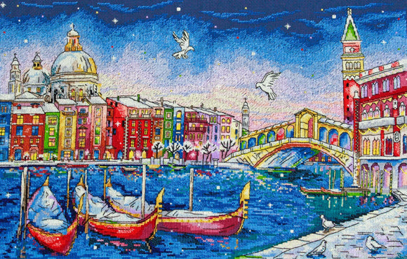 Holiday in Venice Cross Stitch Kit by Merejka
