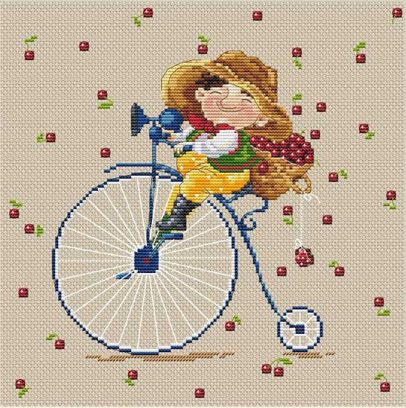 Cherry Cross Stitch Kit by Merejka
