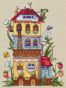 Summer House Cross Stitch Kit by Merejka