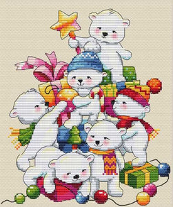 Christmas Bears Cross Stitch Kit by Merejka