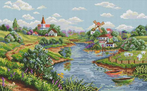 Spring View Cross Stitch Kit by Merejka