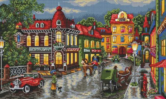 The Old City Cross Stitch Kit by Merejka