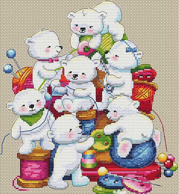 Little Helpers Cross Stitch Kit by Merejka