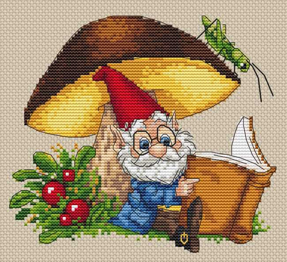 Under the Mushroom Cross Stitch Kit by Merejka