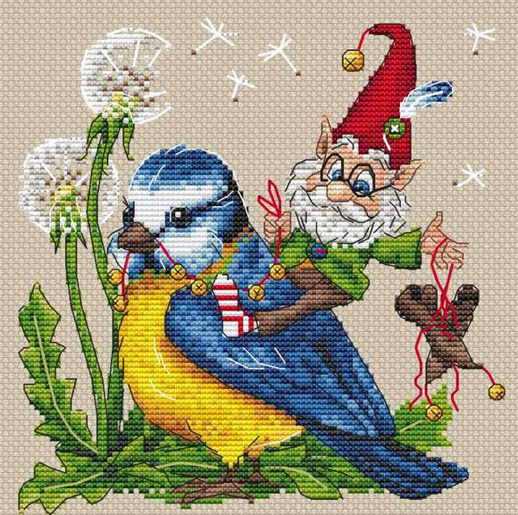 Tailwind Cross Stitch Kit by Merejka