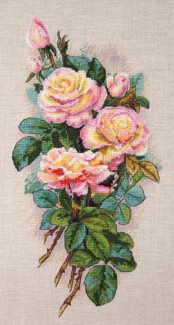 Vintage Roses Cross Stitch Kit by Merejka