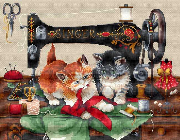 Players and Singer Cross Stitch Kit by Merejka