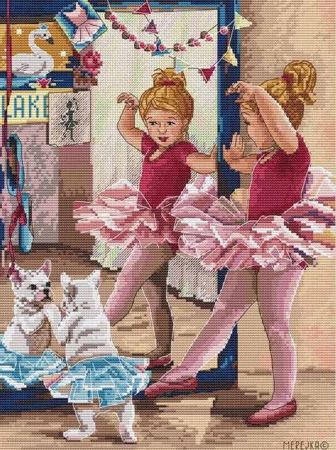 The Ballerinas Cross Stitch Kit by Merejka