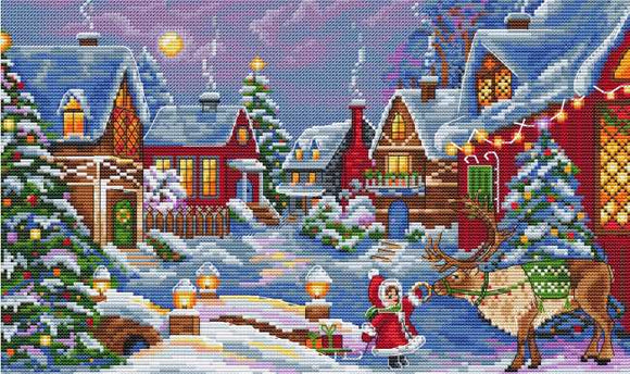 Christmas Guest Cross Stitch Kit by Merejka