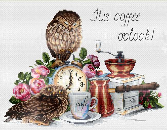 It's Coffee O'Clock Cross Stitch Kit by Merejka