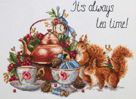 It's Always Tea Time Cross Stitch Kit by Merejka