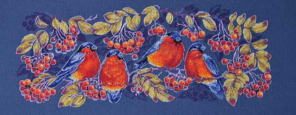 Bullfinches Cross Stitch Kit by Merejka