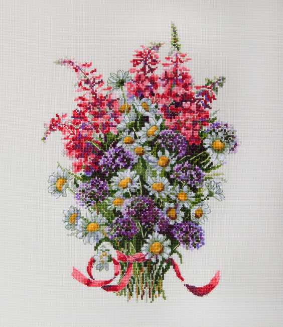 The Field Bouquet Cross Stitch Kit by Merejka