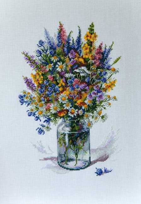 The Thistle Bouquet Cross Stitch Kit by Merejka