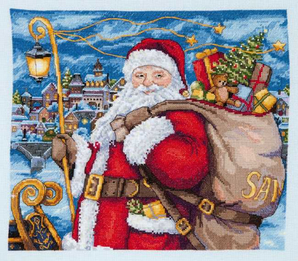 Santa is Coming Cross Stitch Kit by Merejka