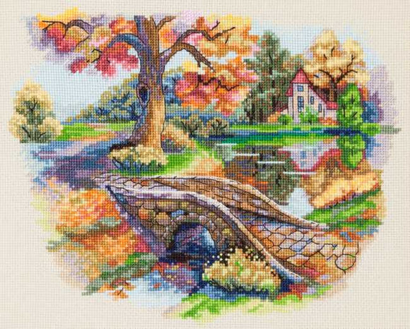 Autumn Landscape Cross Stitch Kit by Merejka