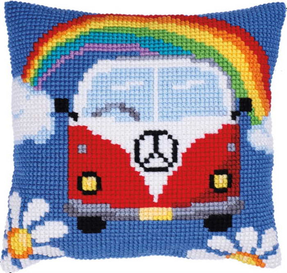 Holiday Adventure Printed Cross Stitch Cushion Kit by Needleart World