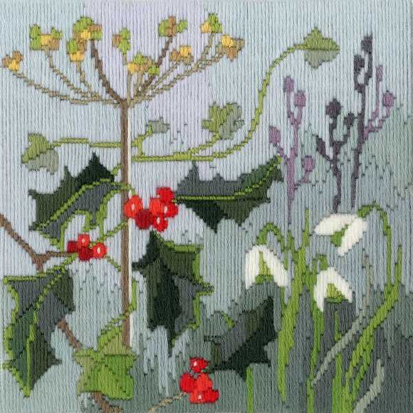 Winter Long Stitch Kit by Derwentwater Designs