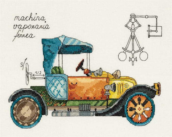 Clockwork Vehicle Cross Stitch Kit by PANNA