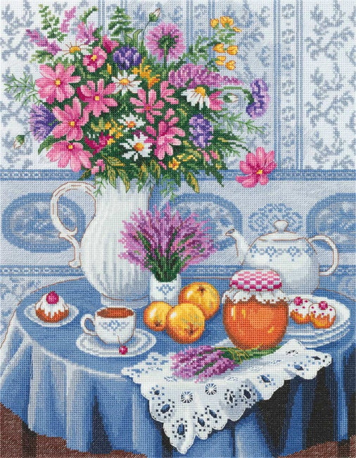 Afternoon Tea Cross Stitch Kit by PANNA