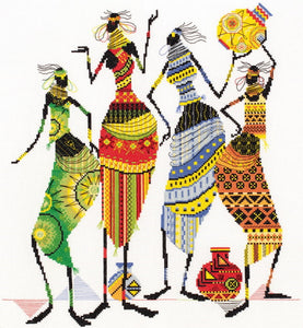 Tribal Friends Cross Stitch Kit by PANNA