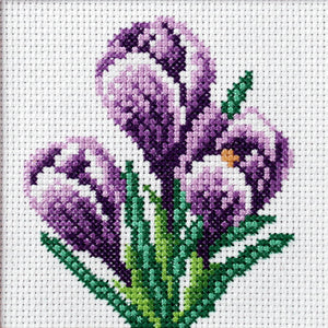 Crocus Printed Cross Stitch Kit by Orchidea