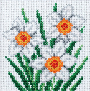 Narcissus Printed Cross Stitch Kit by Orchidea