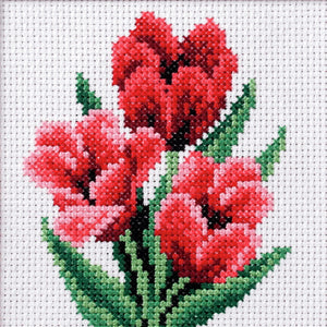 Tulip Printed Cross Stitch Kit by Orchidea