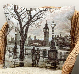 Westminster Pillow Cross Stitch Kit by PANNA